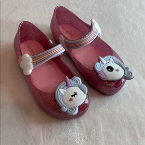 Mini Melissa Unicorn Shoes!